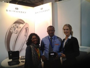 Winner of a My Girl Diamond at the Cape Town Diamond Museum stand at Tourism Indaba