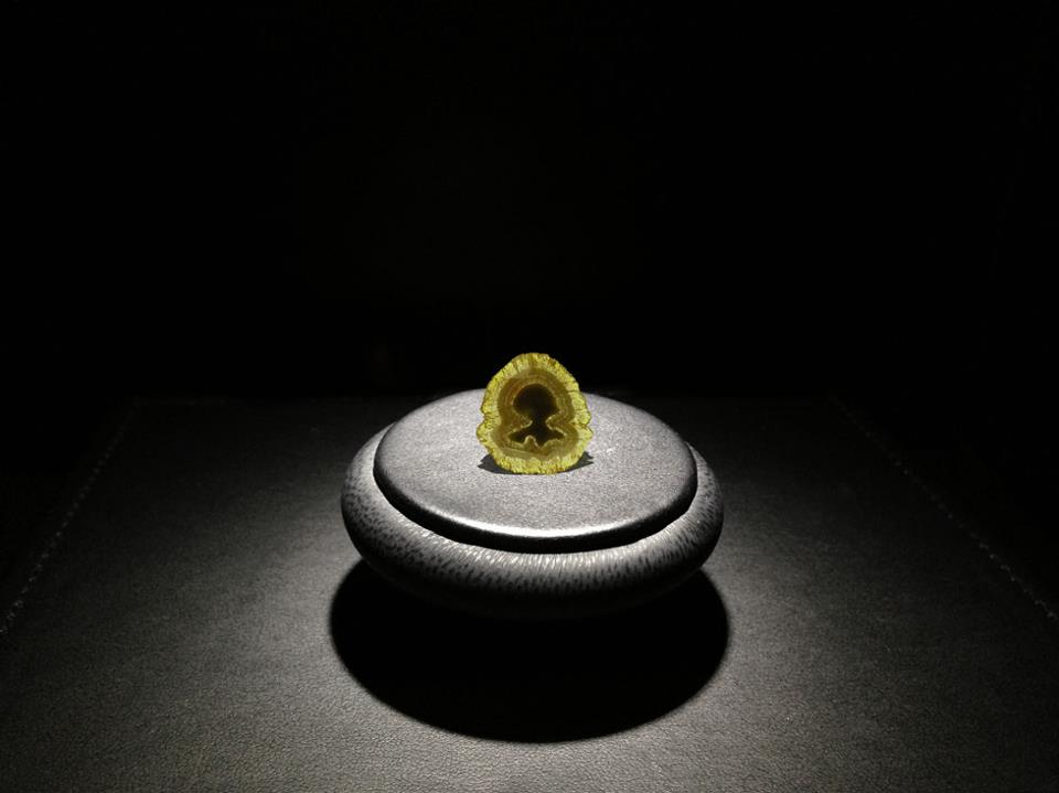3 Billion Year Old Portrait of a Woman Diamond on display at Cape Town Diamond Museum stand at Tourism Indaba