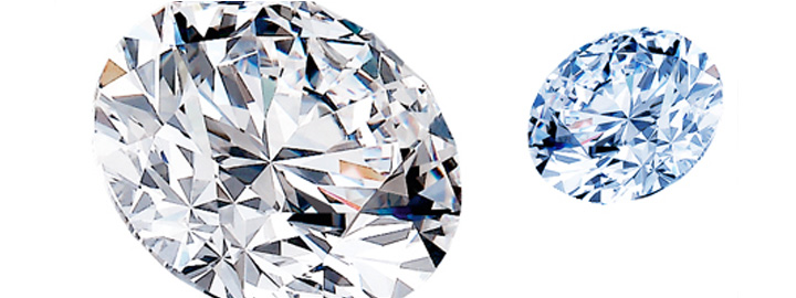 Round polished diamonds