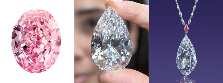 large oval and pear shaped diamonds