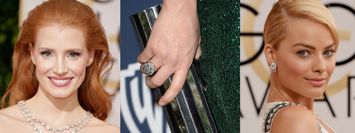 Celebrities wearing diamonds at the 2014 Golden Globe Awards