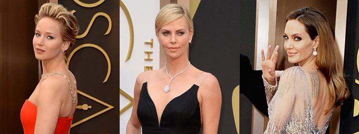 Celebrities wearing diamonds at the 2014 Academy Awards