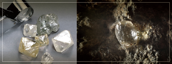 Diamond-bearing Kimberlite rock