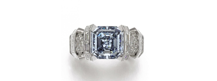 Sky Blue diamond, designed by Cartier