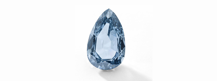 Pear cut fancy blue diamond