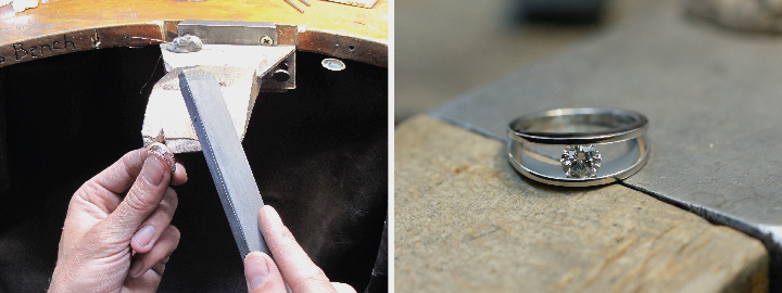 View the process of how diamond jewellery is manufactured to the final product