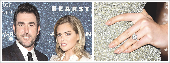 Model, Kate Upton stunned guests on the red carpet with her solitaire diamond ring