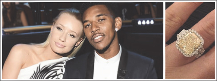 L.A. Lakers player, Nick Young didn't hold back when he asked Iggy to marry him