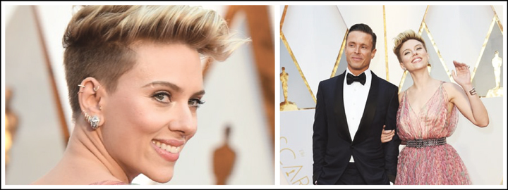 Scarlett's earrings sure made a statement at the Oscars