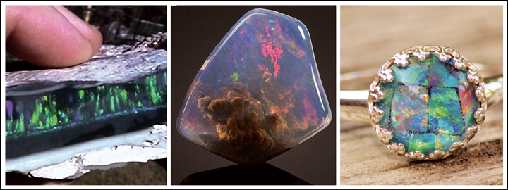 The opal gemstone has the characteristics of a rainbow