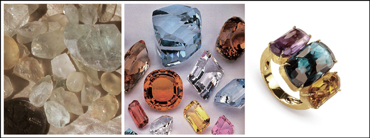 A topaz symbolises wisdom, friendship and longevity
