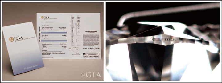 A GIA certificate will indicate if a diamond is man-made