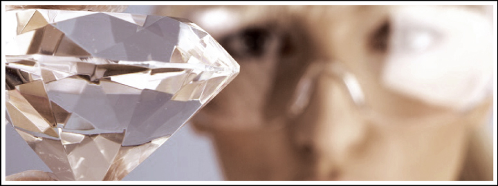 Unlike a natural diamond, a synthetic diamond is made in a lab