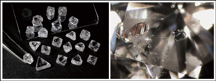 A diamond cut is determined by the size and shape of the rough diamond