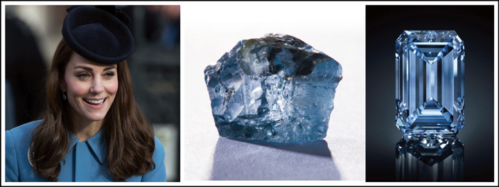 Kate Middleton is a true reflection of what a blue diamond represents