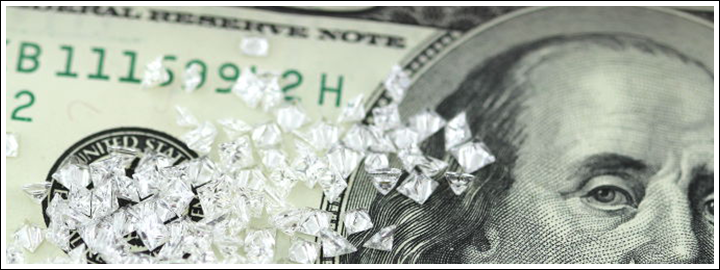 Demand for diamonds increase worldwide.
