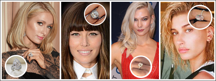 TOP 10 CELEBRITY DIAMOND ENGAGEMENT RINGS | CT Diamond Museum