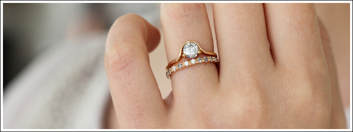 Rose gold is incredibly beautiful once set in jewellery