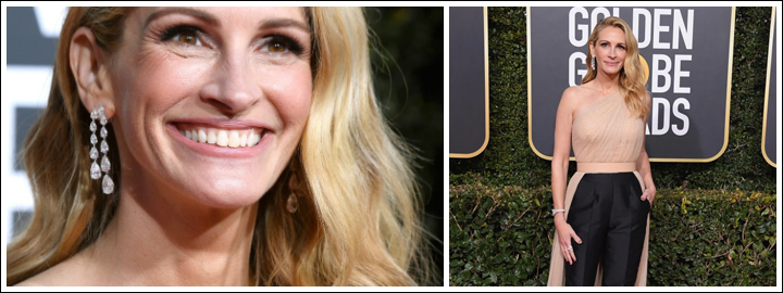 Julia Roberts look was elevated by 40.39 carats of diamonds