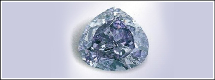 The Royal Purple Heart Diamond weighs 7.34-carats