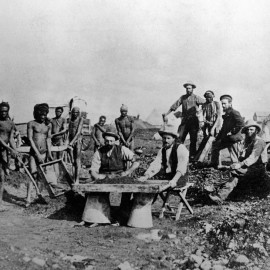 Diamond diggers camp in the 1880's