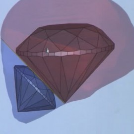 diamond marking via 3D technology