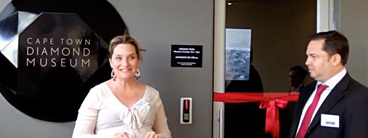 Yair Shimansky at the Cape Town Diamond Museum