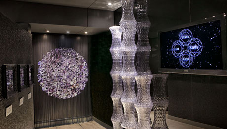 Cape Town Diamond museum exhibits and interior