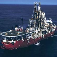 marine mining vessel at sea