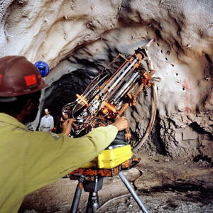 underground mining in operation