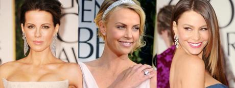celebrities wearing diamonds at the Golden Globe awards