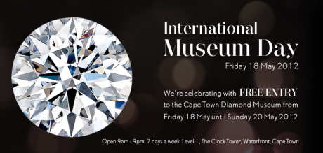 international museum day banner for cape town diamond museum
