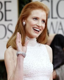 Jessica Chastain at the 69th Annual Golden Globes Awards
