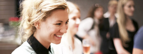 women at the Cape Town Diamond Museum enjoying sparkling wine