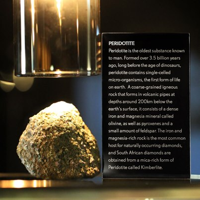 Peridotite at the Cape Town Diamond Museum stand at the Tourism Indaba