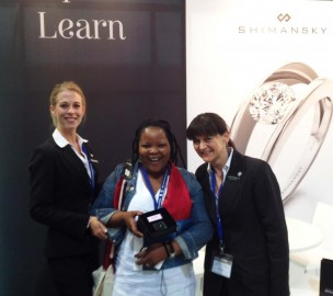 Winner of a My Girl Diamond at the Cape Town Diamond Museum at Tourism Indaba