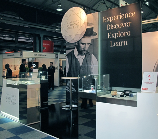 Cape Town Diamond Museum stand at the Tourism Indaba 2013