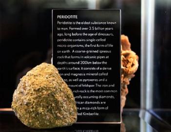peridotite Cape Town Diamond Museum