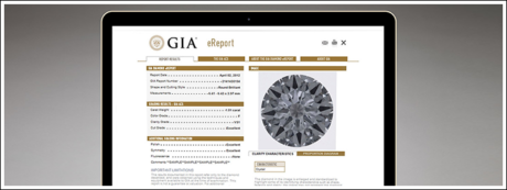 A diamond's fluorescence is noted on a GIA Grading Report