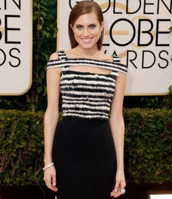Allison Williams Golden Globes 2014