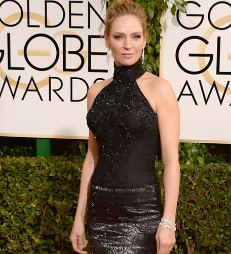 Uma Thurman Golden Globes 2014