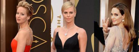 Celebrities wearing diamonds at the 2014 Academy Awards
