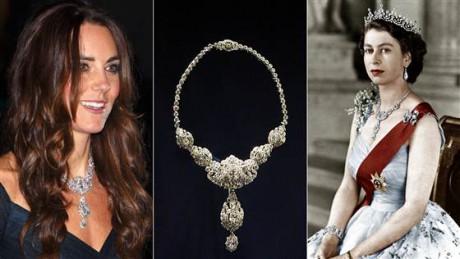 Kate dazzles in vintage jewels