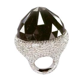 famous black diamond ring