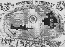 historic plan of ownership in Kimberly mine
