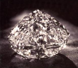 Diamond against black background