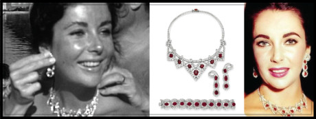 Elizabeth was ecstatic after Mike surprised her with a diamond-and-ruby bib necklace set