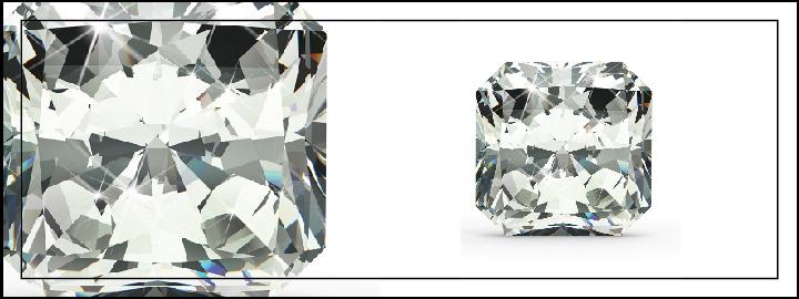 asscher cut diamond (square emerald cut diamond)