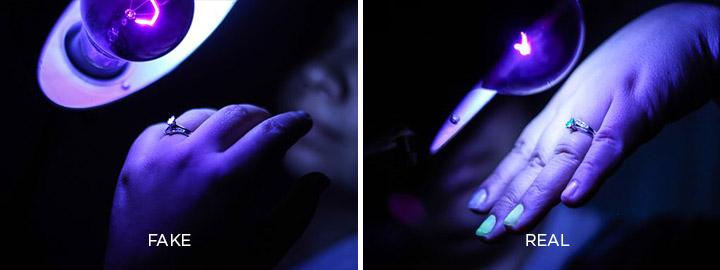 diamond ultraviolet test