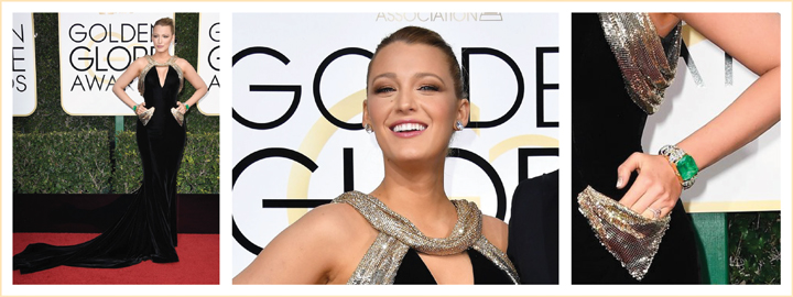 Blake Lively wears diamonds to the 2017 Golden Globe Awards